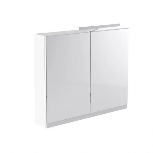 Kartell Ikon Mirrored Cabinet With Light And Shaver Socket - 800mm - White